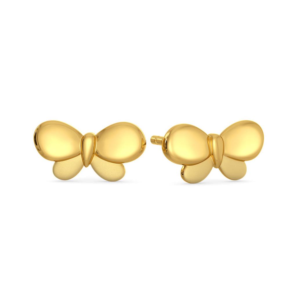Flitter Flutter Gold Earrings