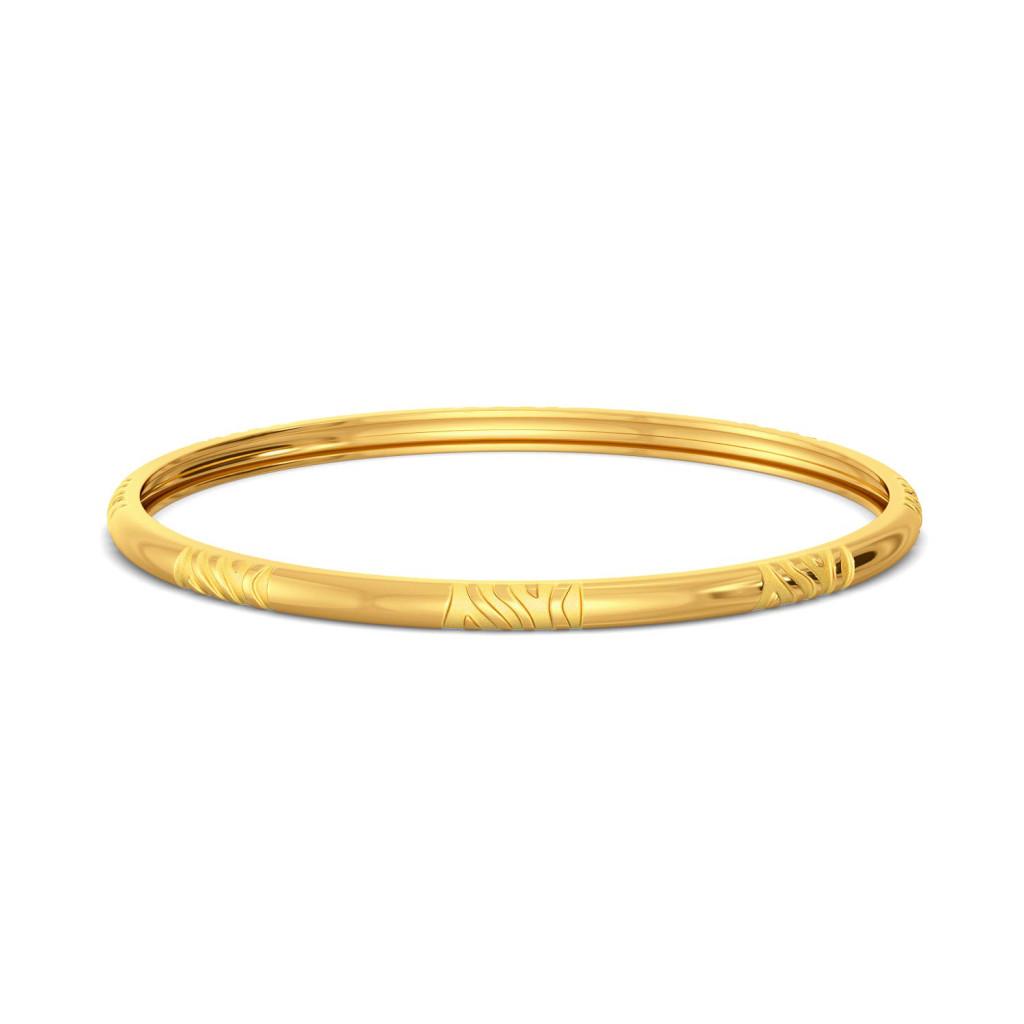 Stripe Kingdom Gold Bangles