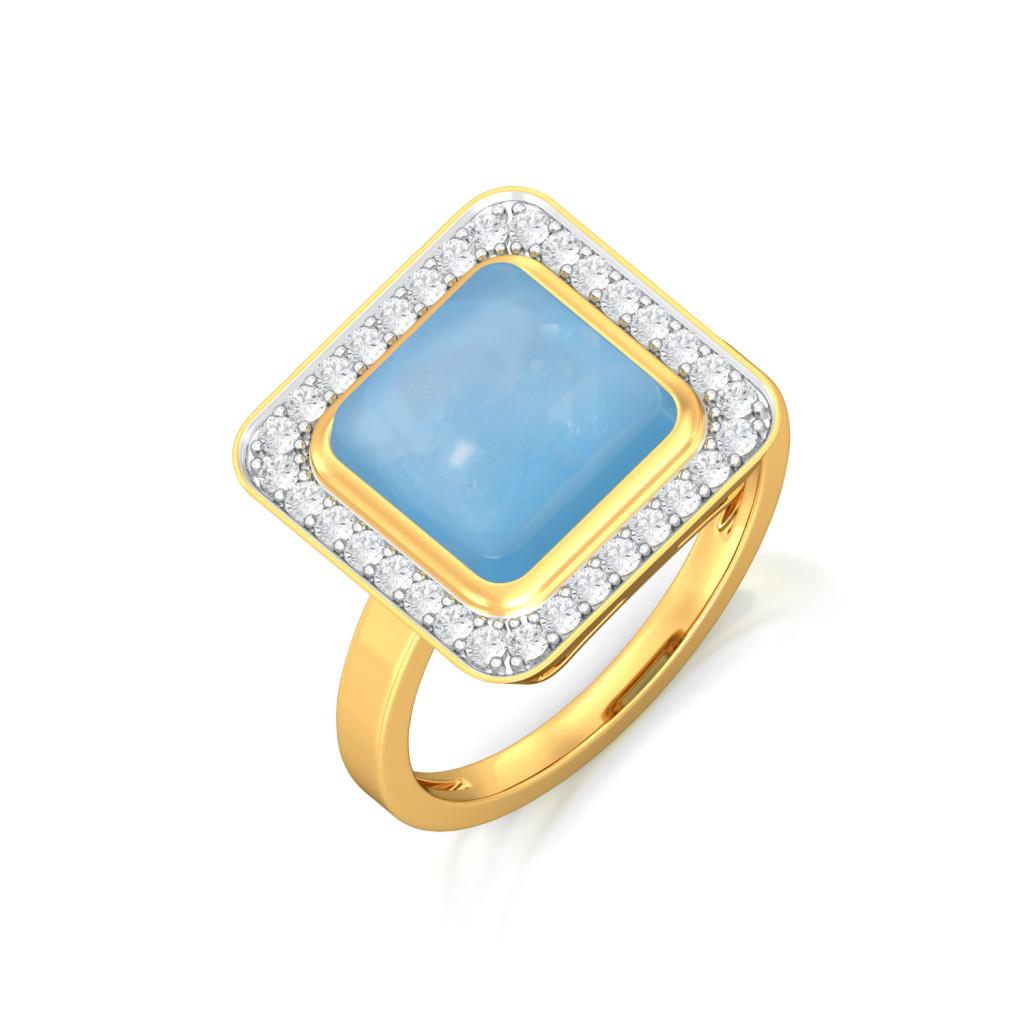 Arctic Blues Diamond Rings
