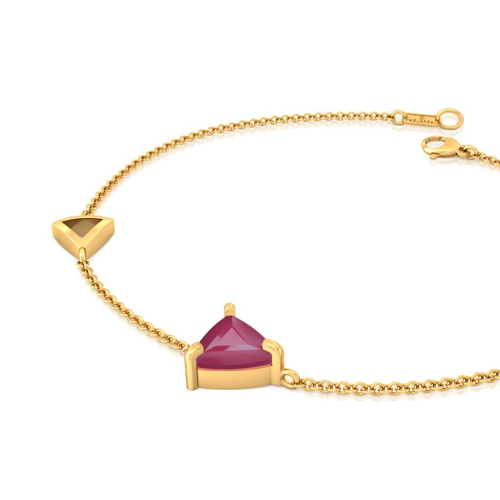 Dandy Burgundy Gemstone Bracelets