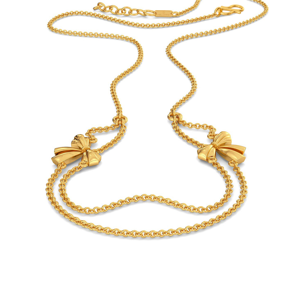 Butterfly Knots Gold Necklaces