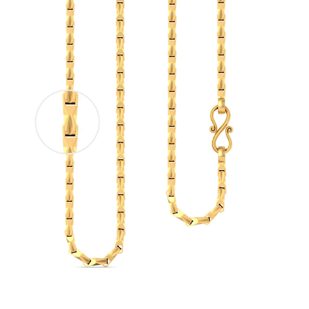 22kt twisted cuboid chain Gold Chains