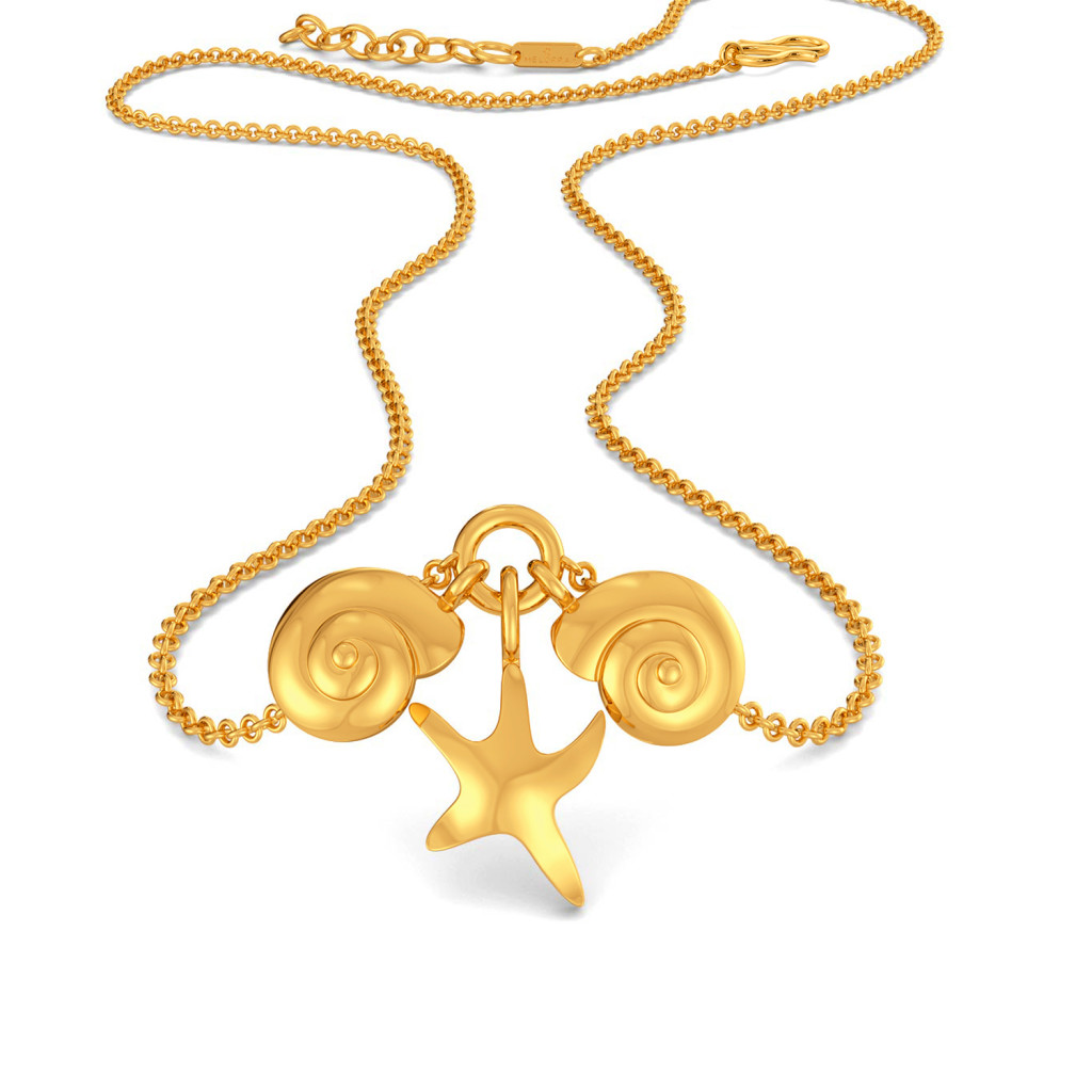 Starry Haze Gold Necklaces