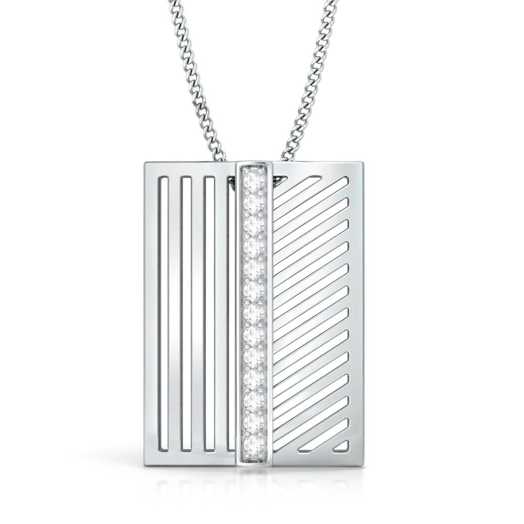 Stripey Affair Diamond Pendants