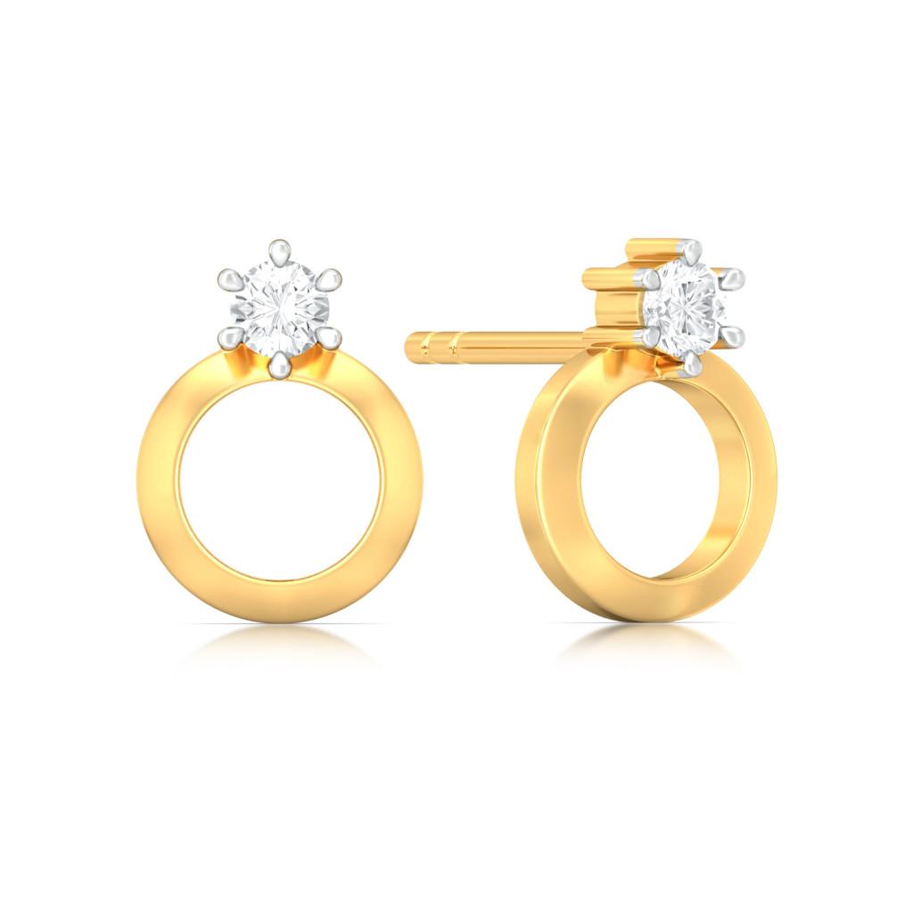 Hoop Whoop Diamond Earrings