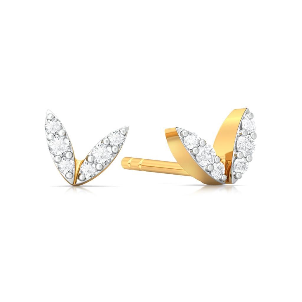 Peace Out Diamond Earrings