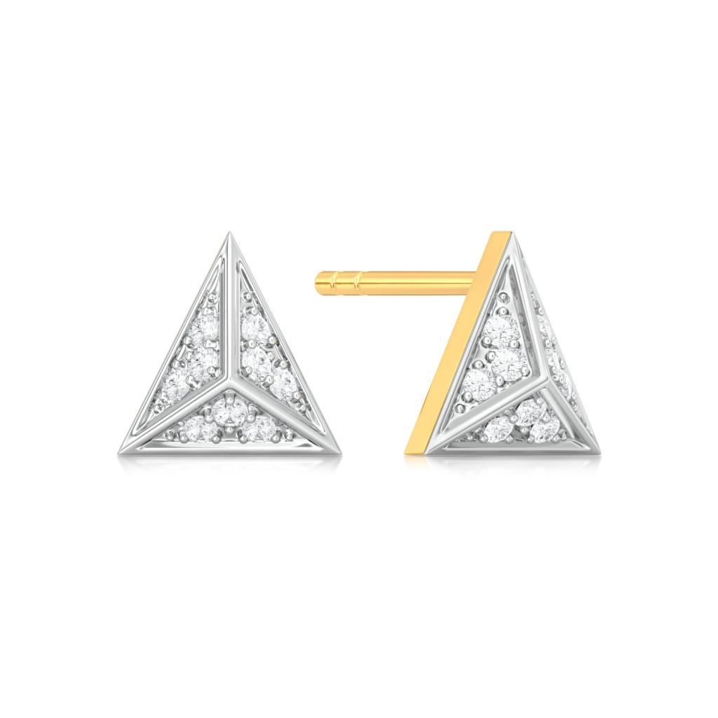 Spangle Triangle Diamond Earrings