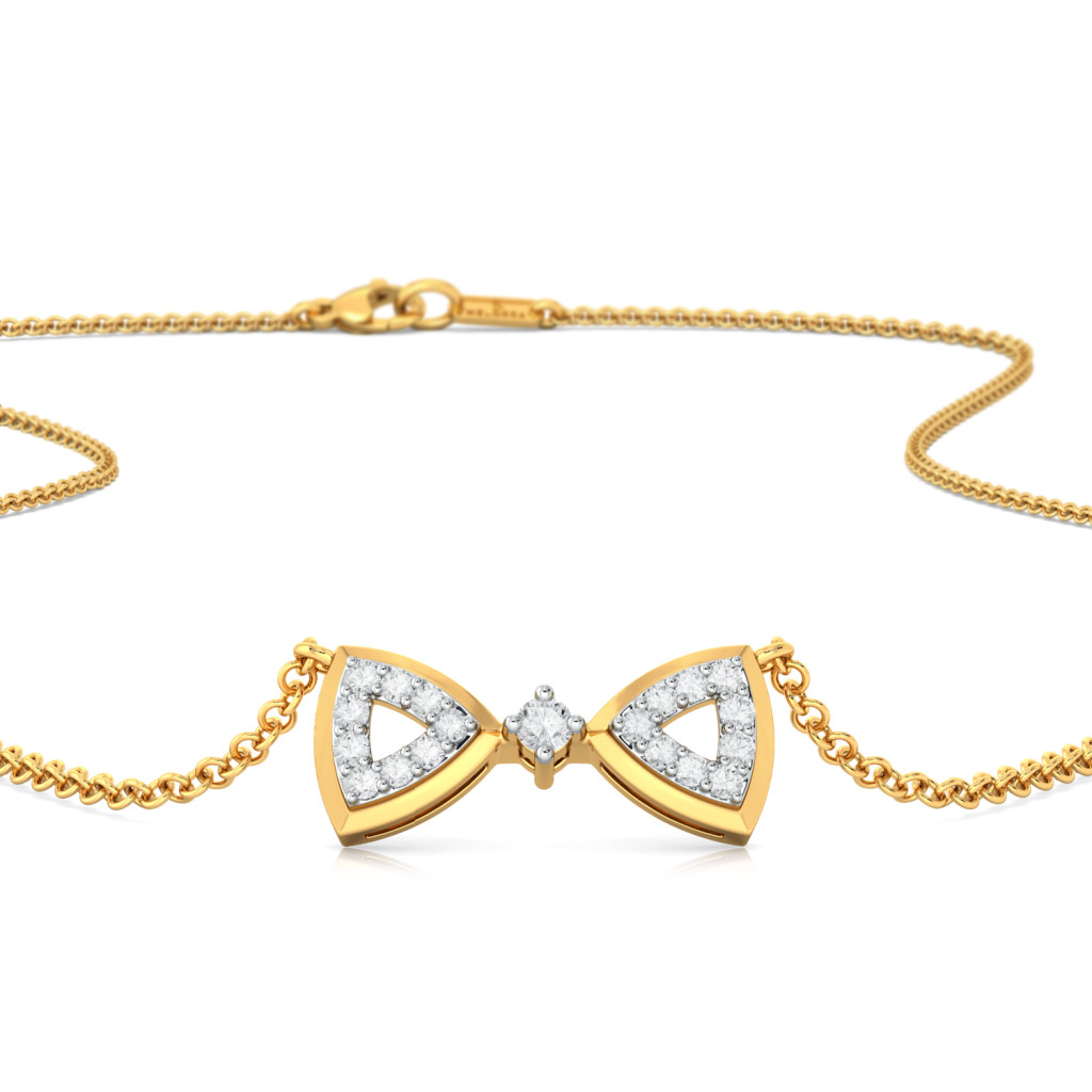 Cutsy Curtsy Diamond Necklaces