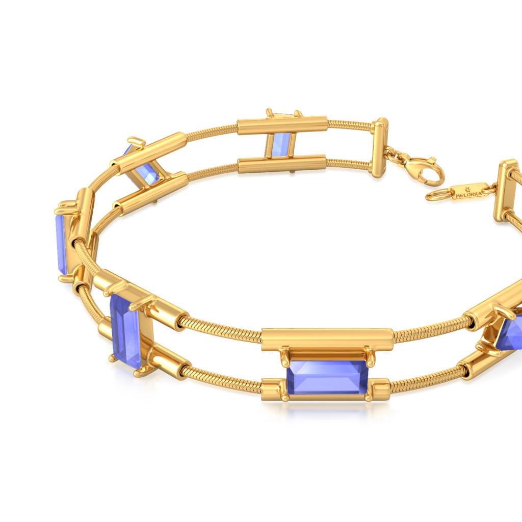 Random Rectangle Gemstone Bracelets