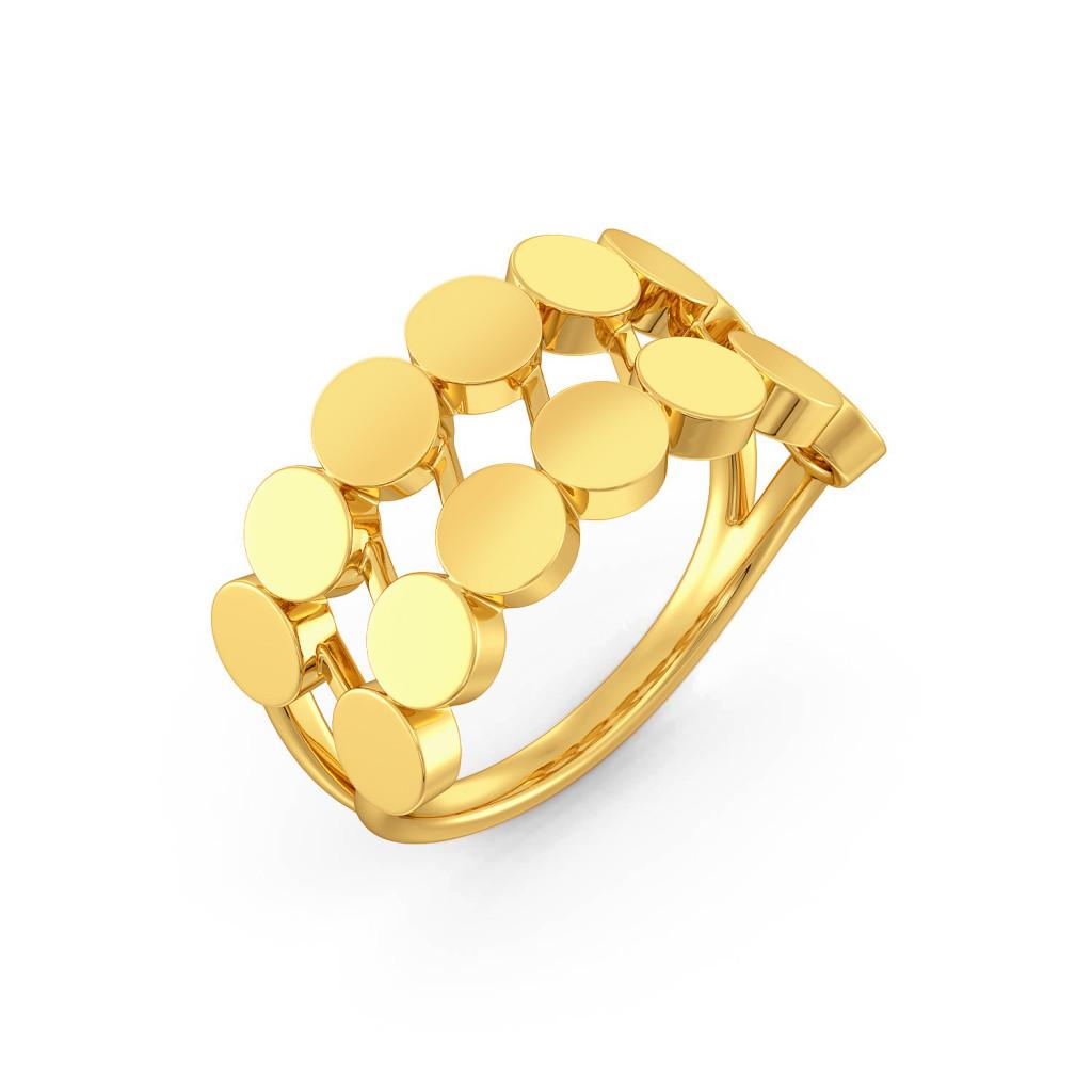 Shimmer N Glimmer Gold Rings