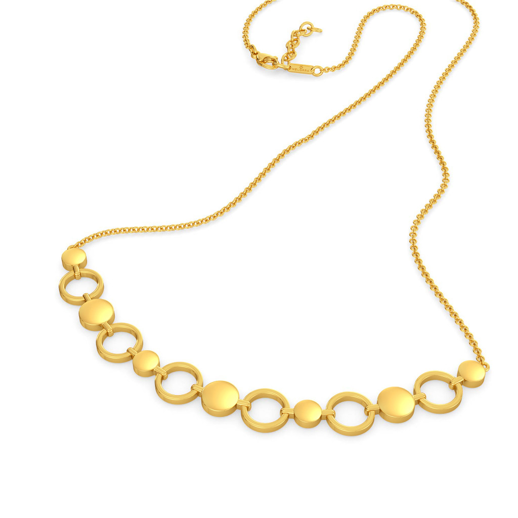 Sync in Sequin  Gold Necklaces