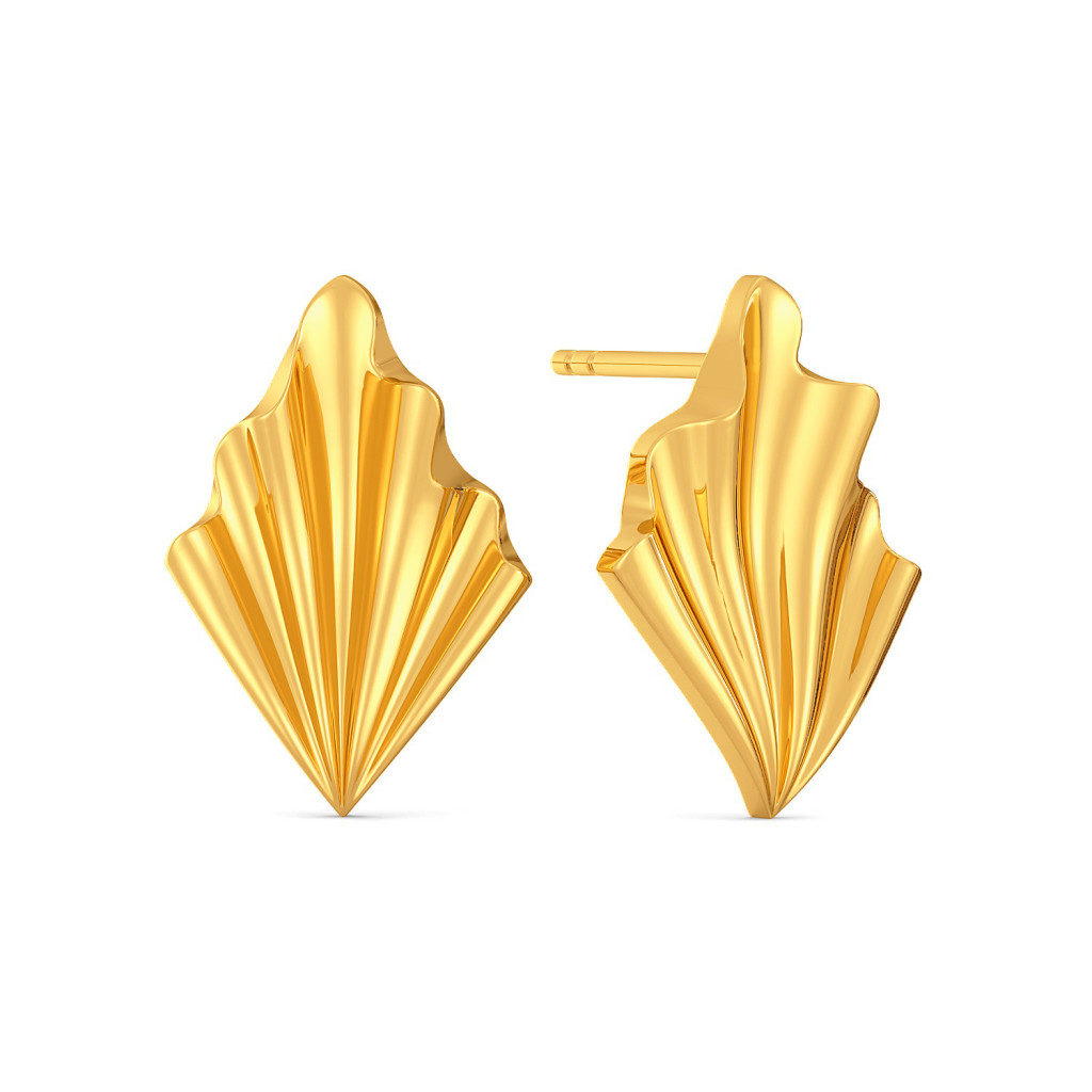 Fab Furbelow Gold Earrings