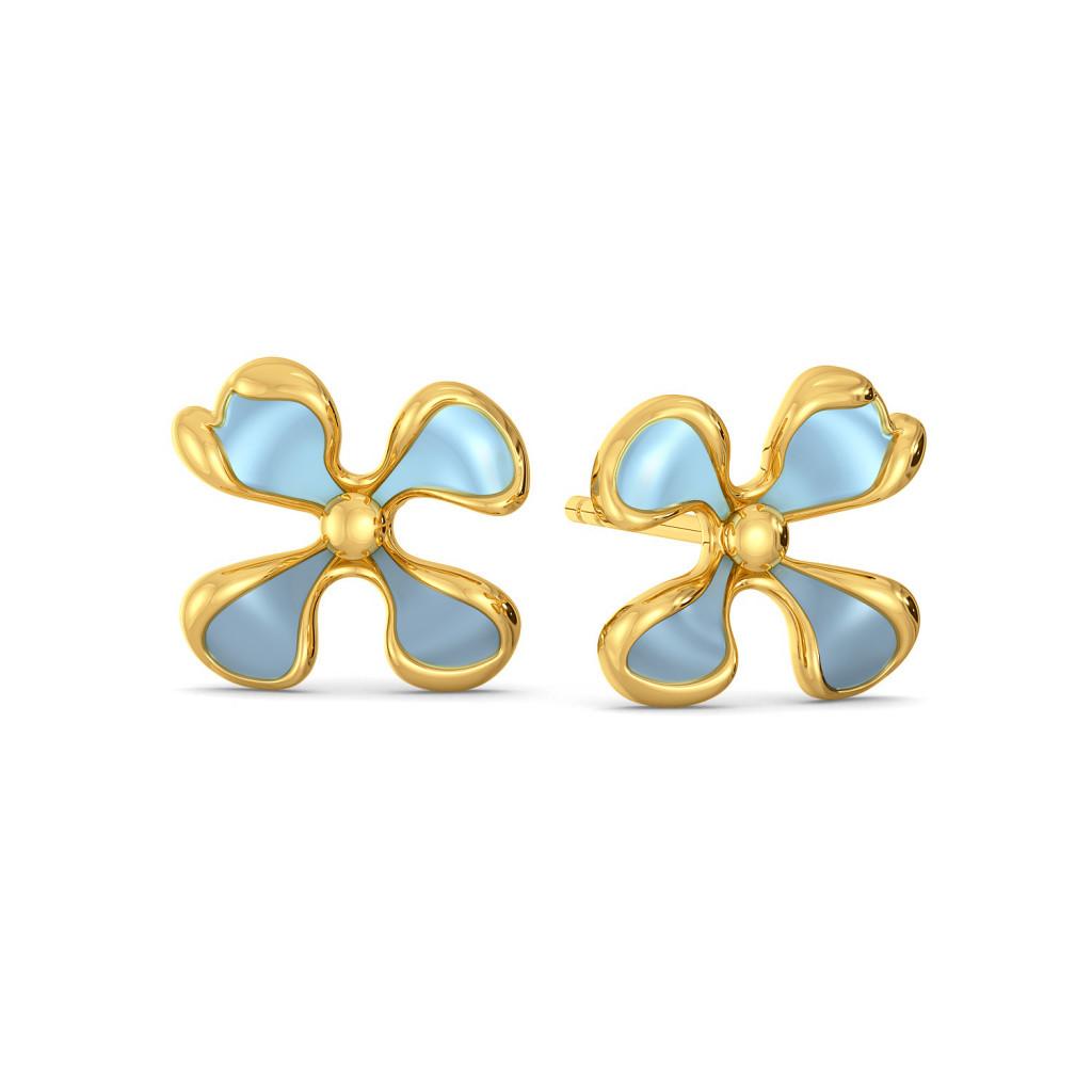 Flor Bonica Gold Earrings