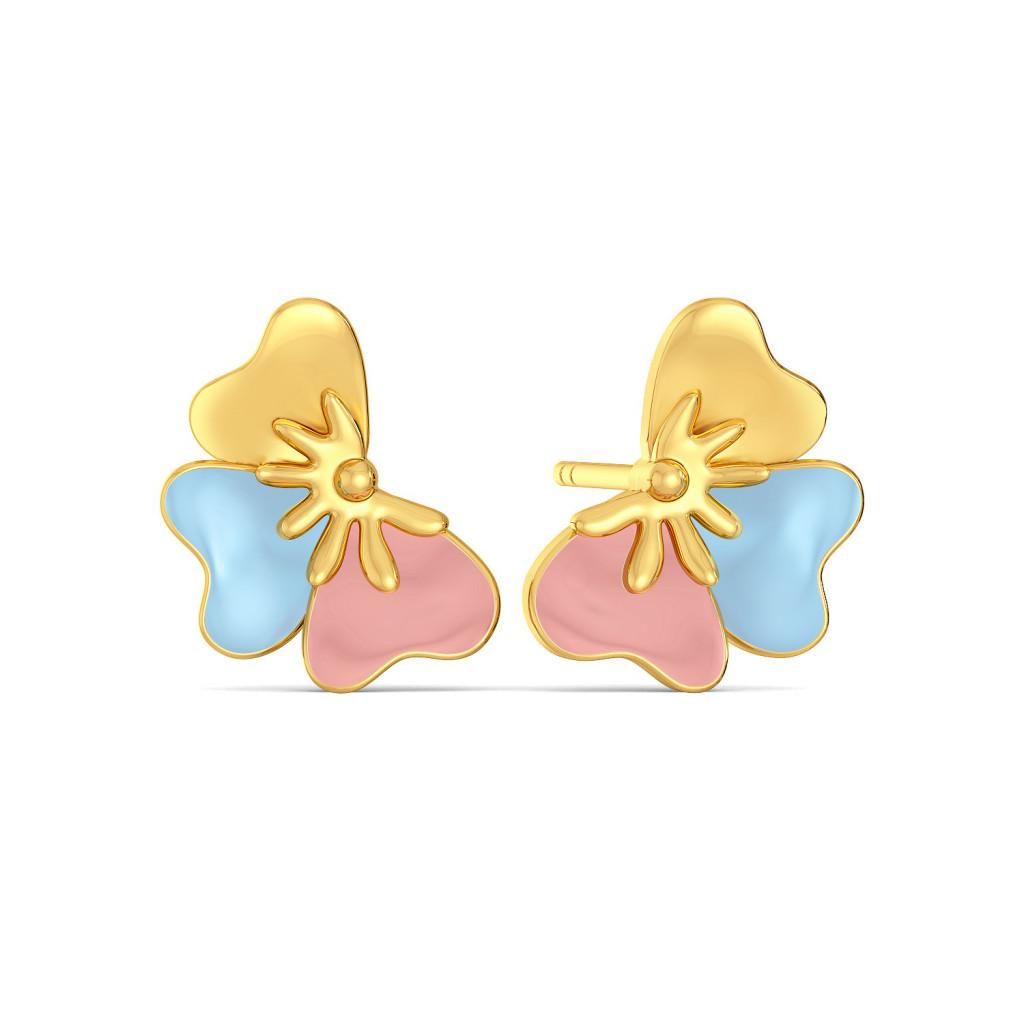 Fleur n Finesse Gold Earrings