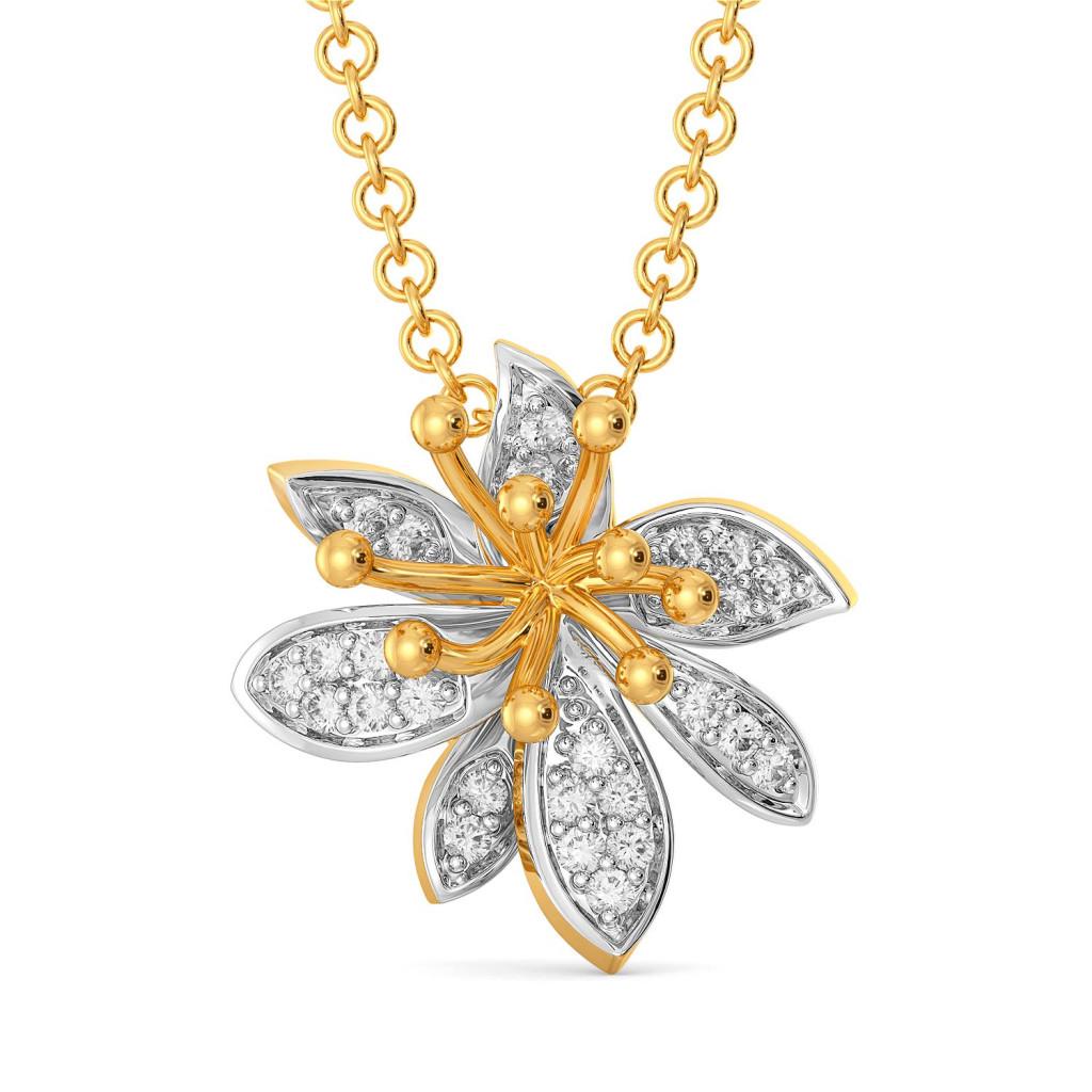 Daisy Dew Diamond Pendants