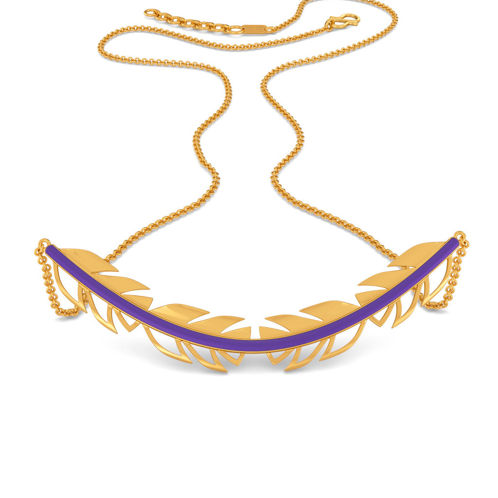 Violet Vibes Gold Necklaces