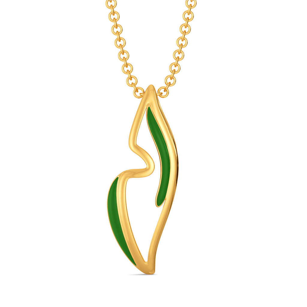 Green Preen Gold Pendants