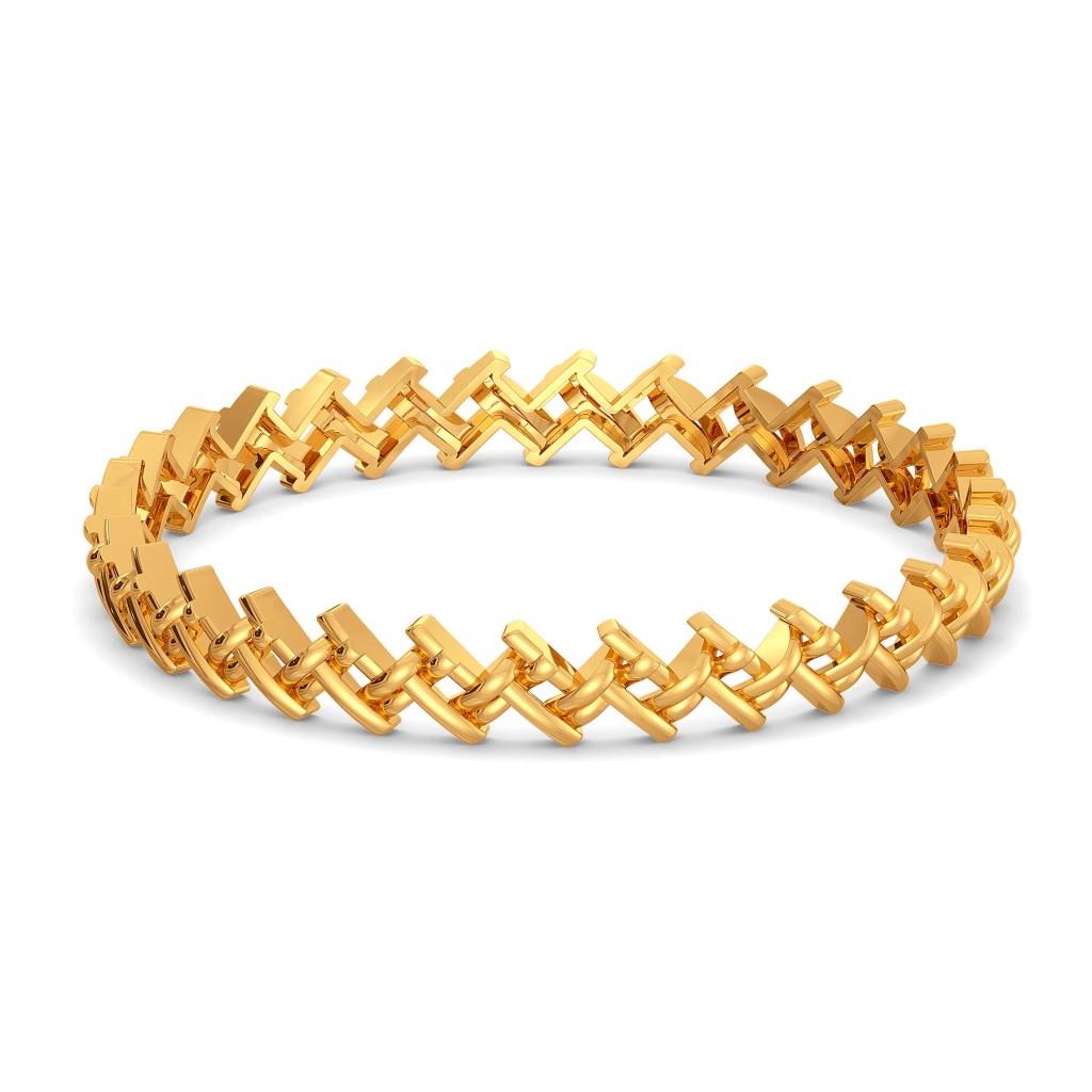 Knit N Knot Gold Bangles