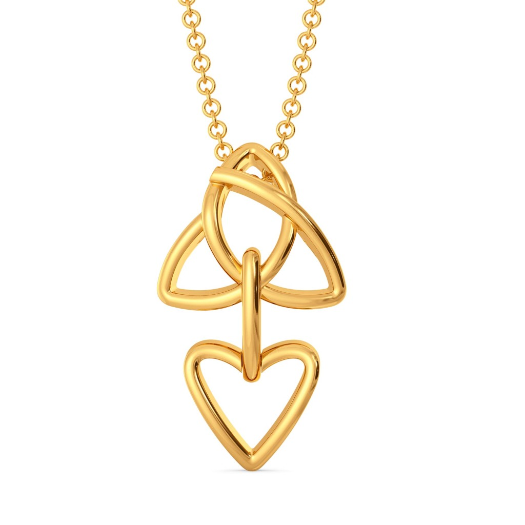 The Celtic Knot Gold Pendants