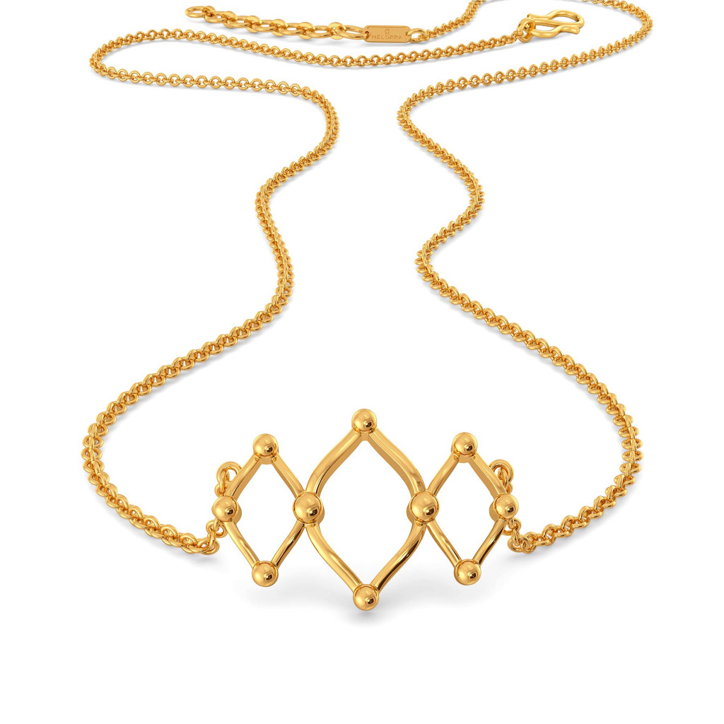 Mesh Medley Gold Necklaces