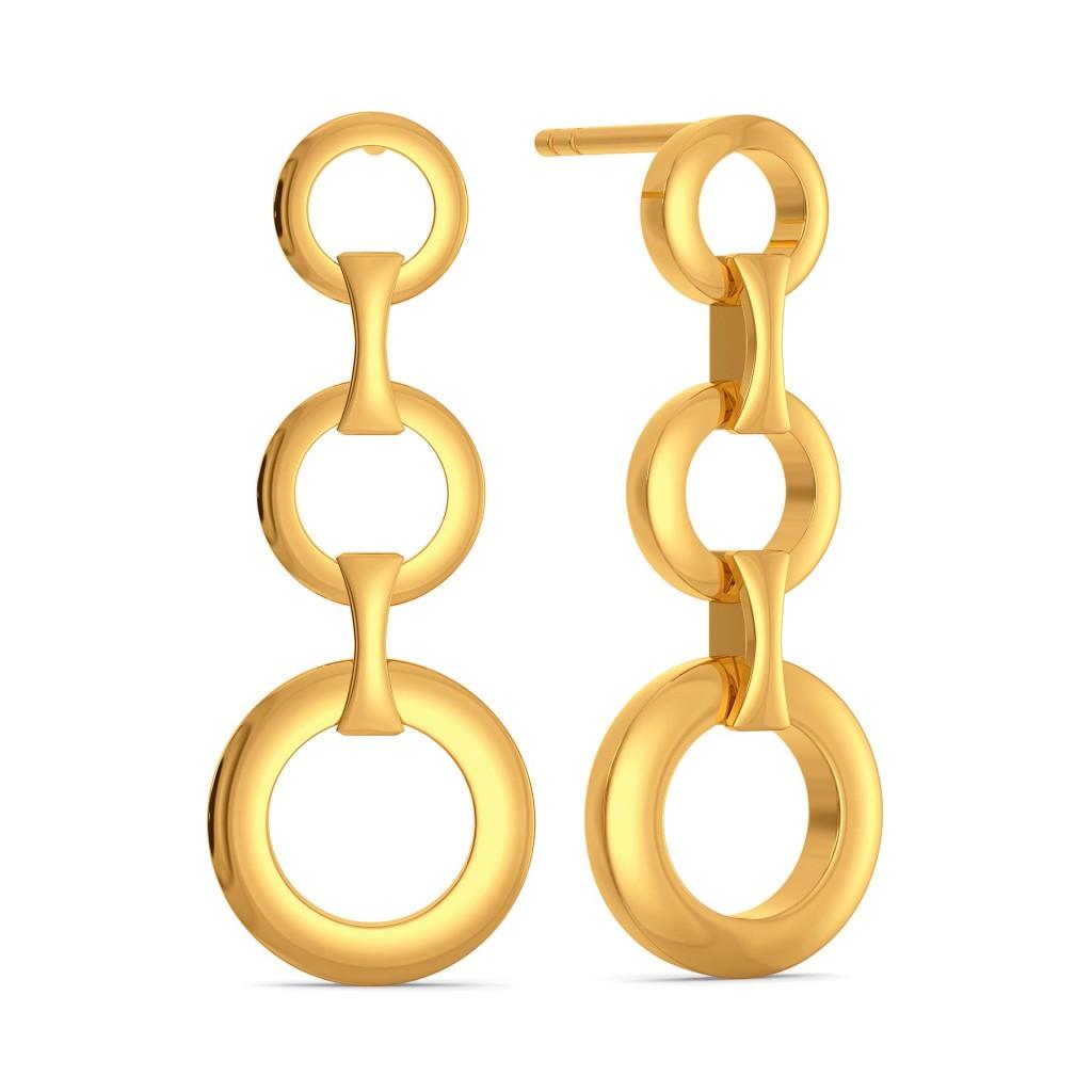 Nothing But Net Gold Earrings