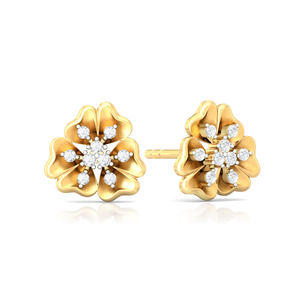 Belle-Flower Diamond Earrings