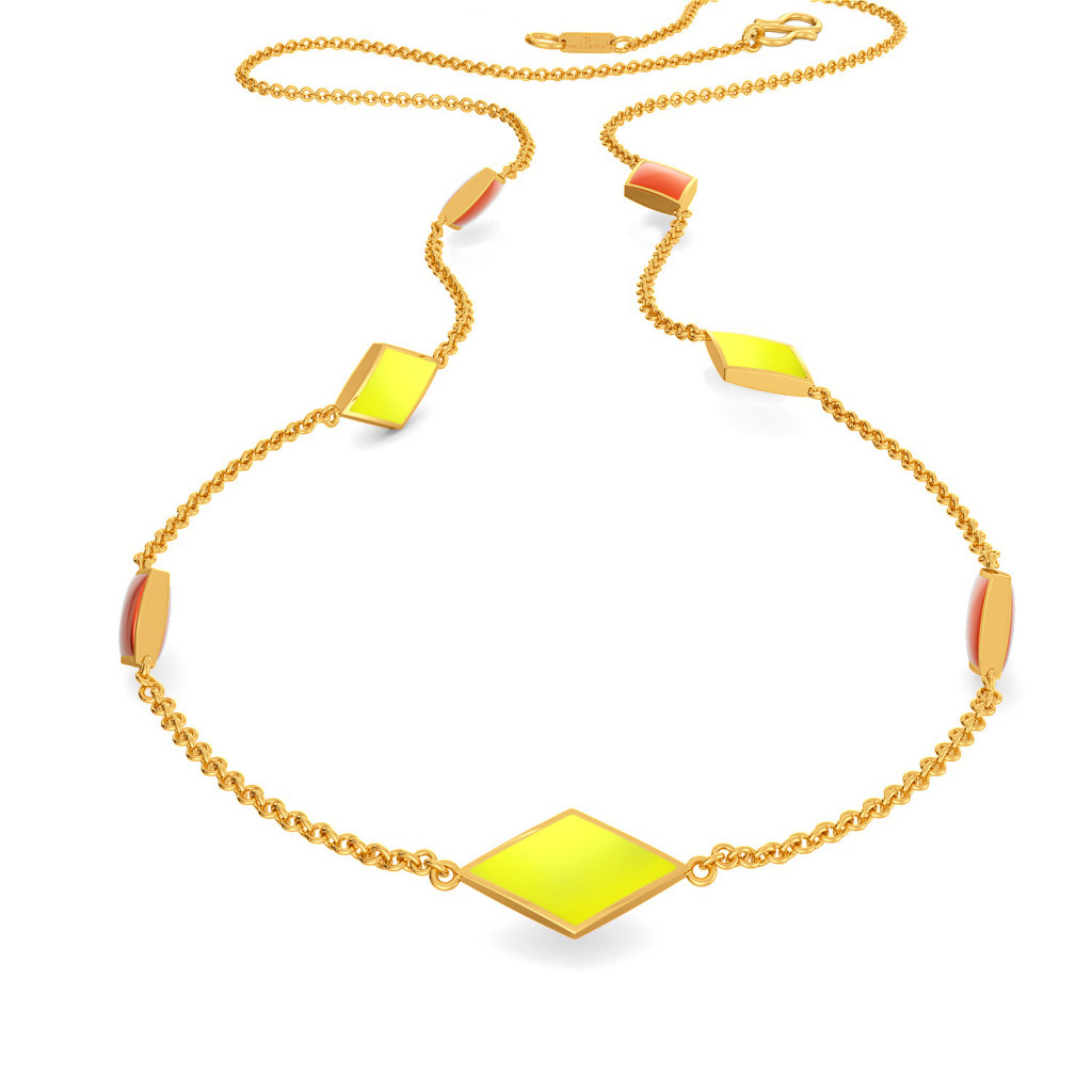 Neon Dab Gold Necklaces