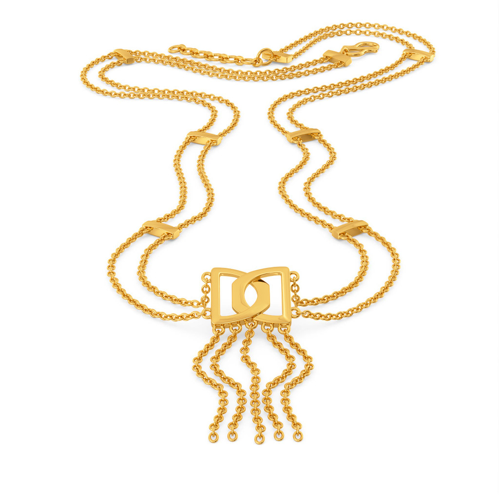 Fringe Frolic Gold Necklaces