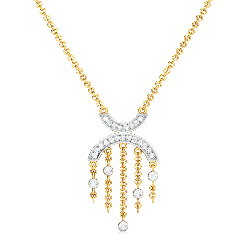 Curves of Shimmer Diamond Necklaces