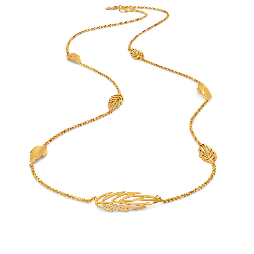 Feathery Fun Gold Necklaces