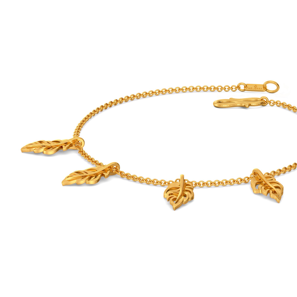 Feather Frizz Gold Bracelets