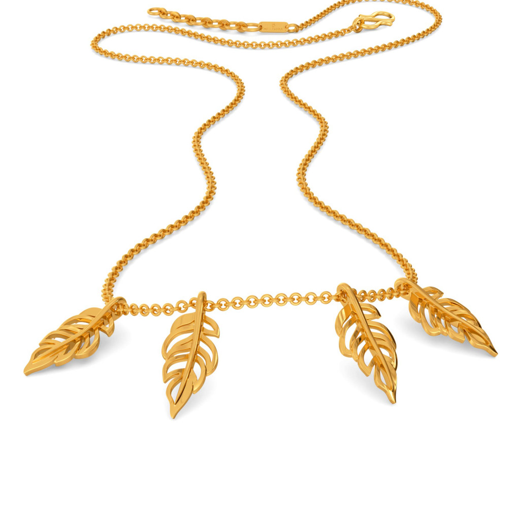 Feather Frizz Gold Necklaces