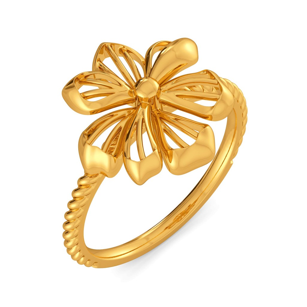 Floral Blooms Gold Rings
