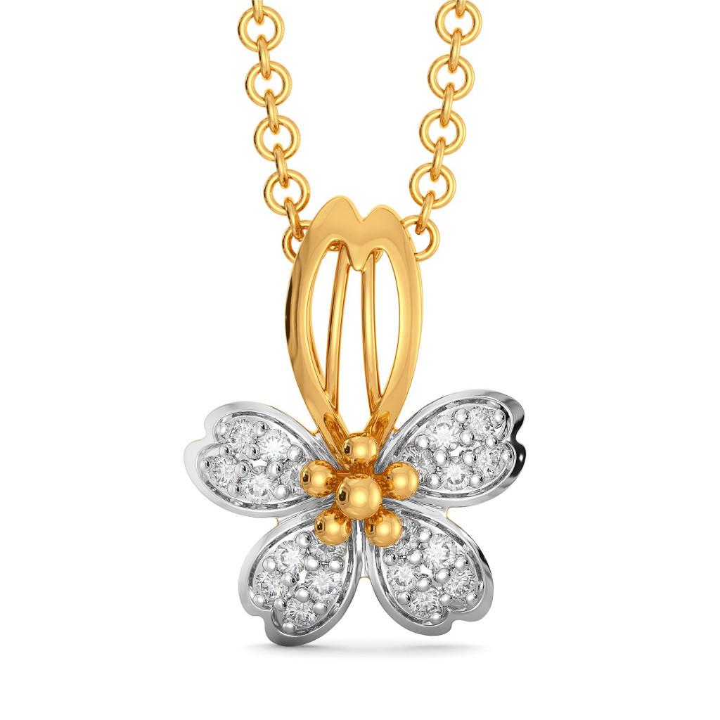 Floral Feat Diamond Pendants