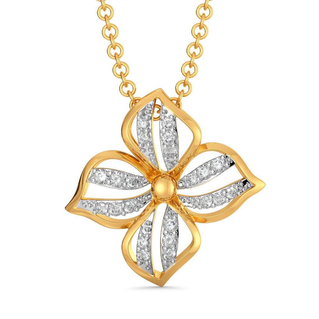 A Petal Place Diamond Pendants