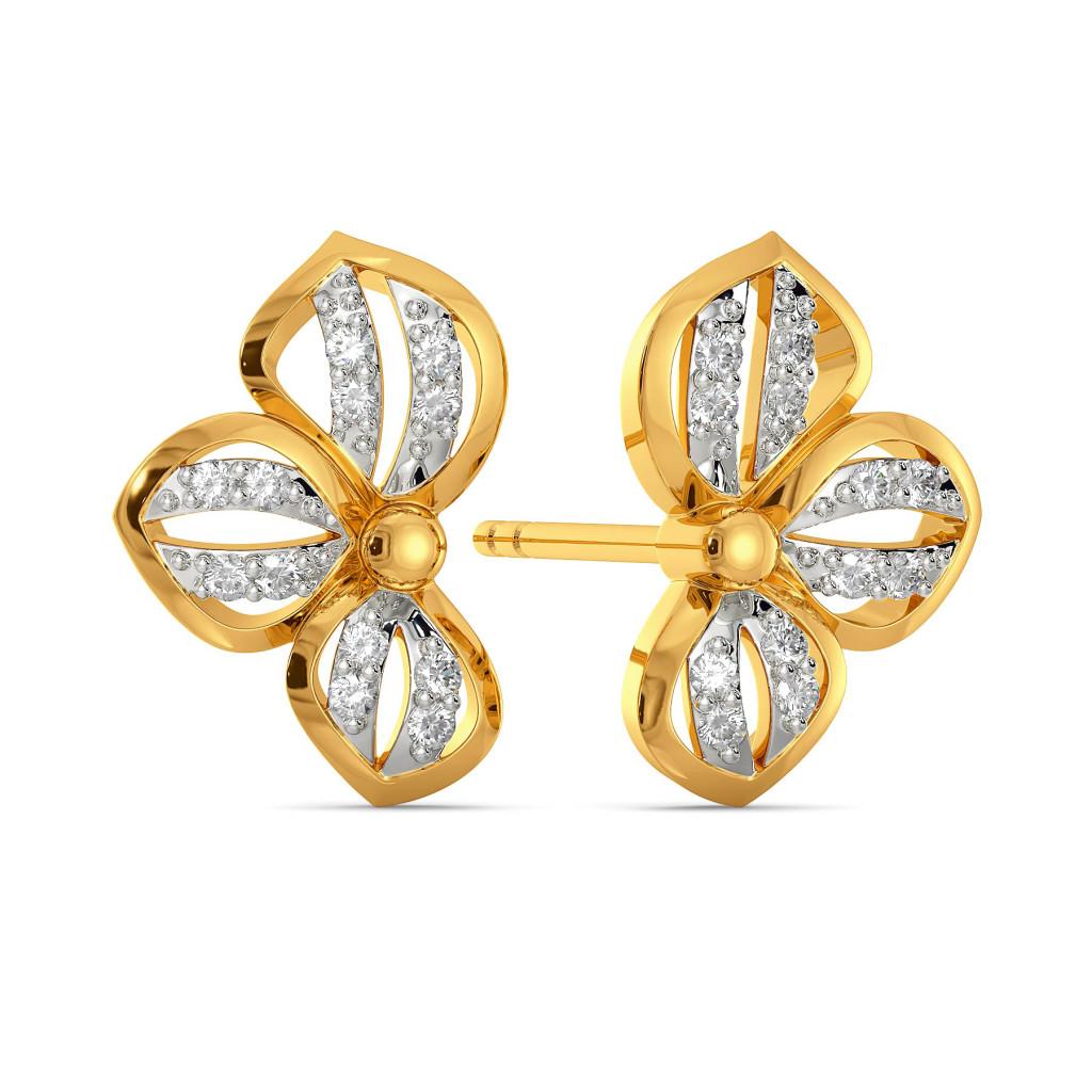 A Petal Place Diamond Earrings