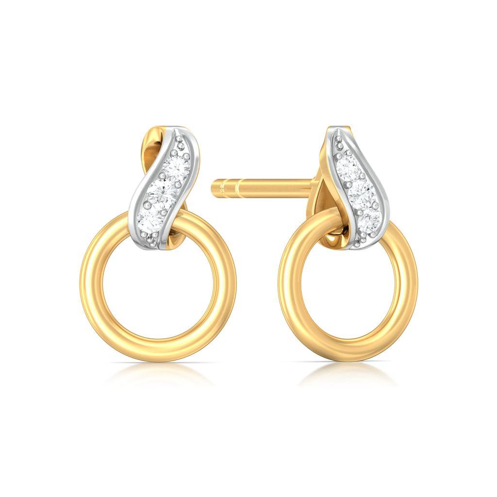 Twirly Whirls Diamond Earrings