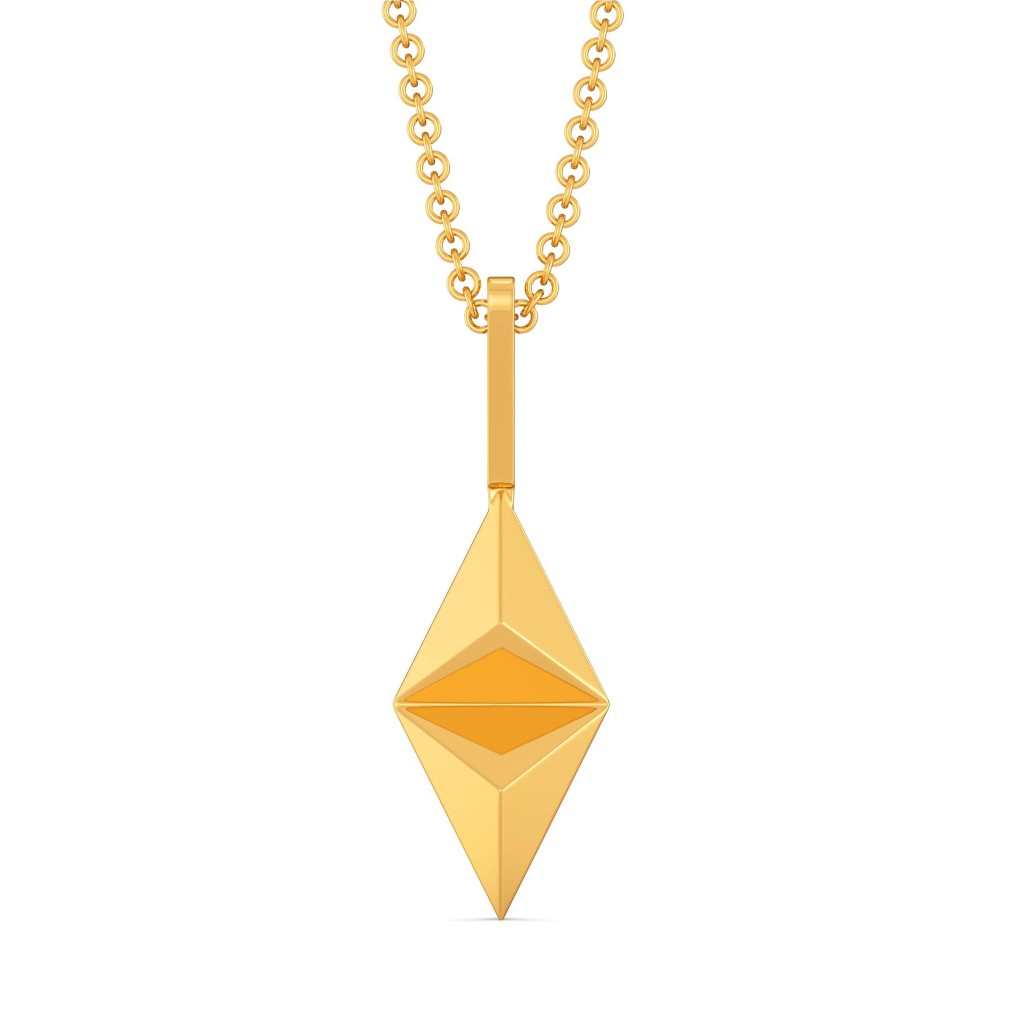 Love Triangles Gold Pendants