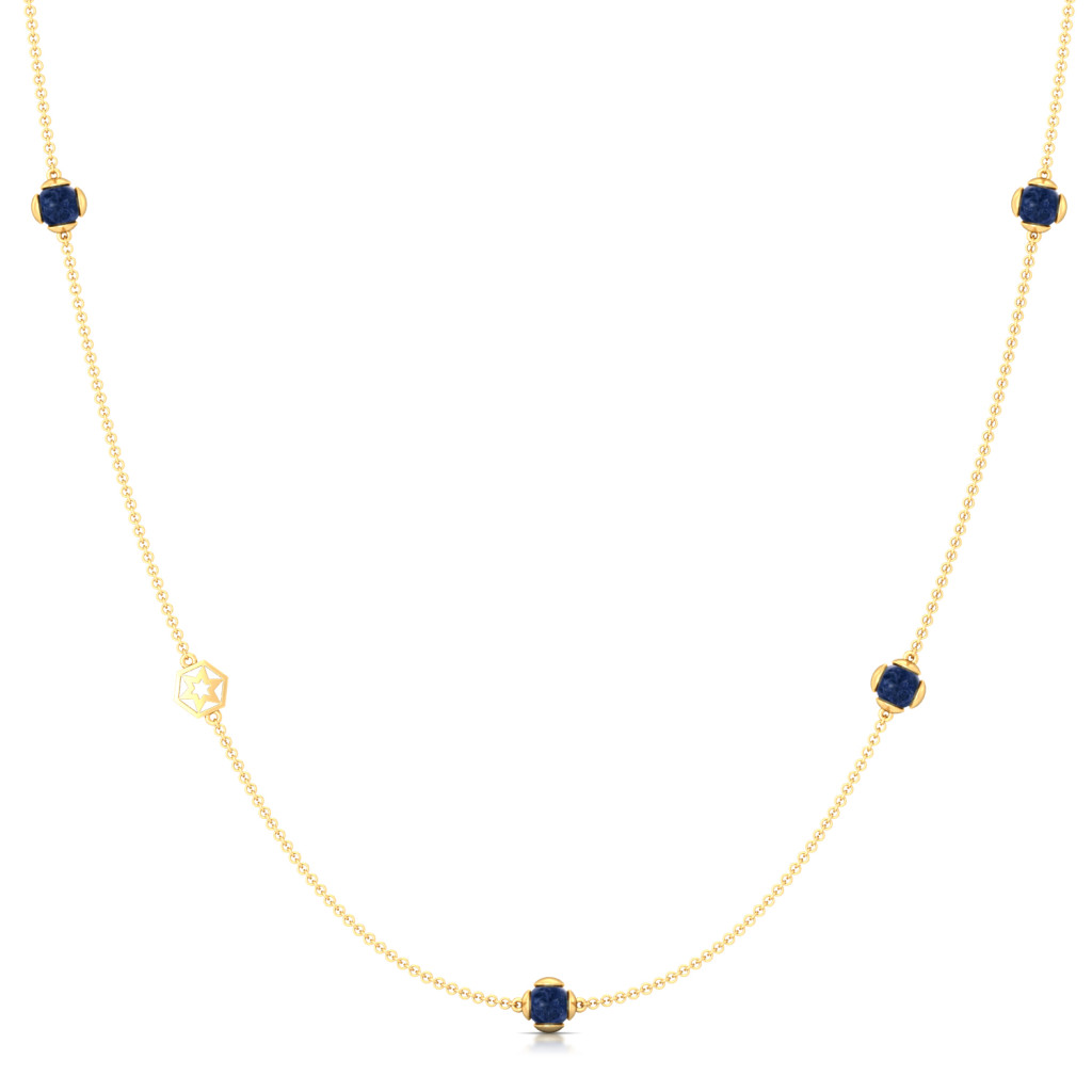 Berry Blue Gemstone Necklaces