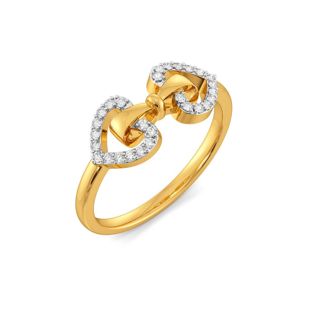 Doting Bows Diamond Rings