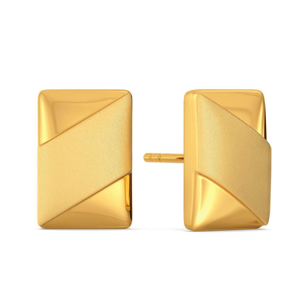 Uber Understated Gold Earrings