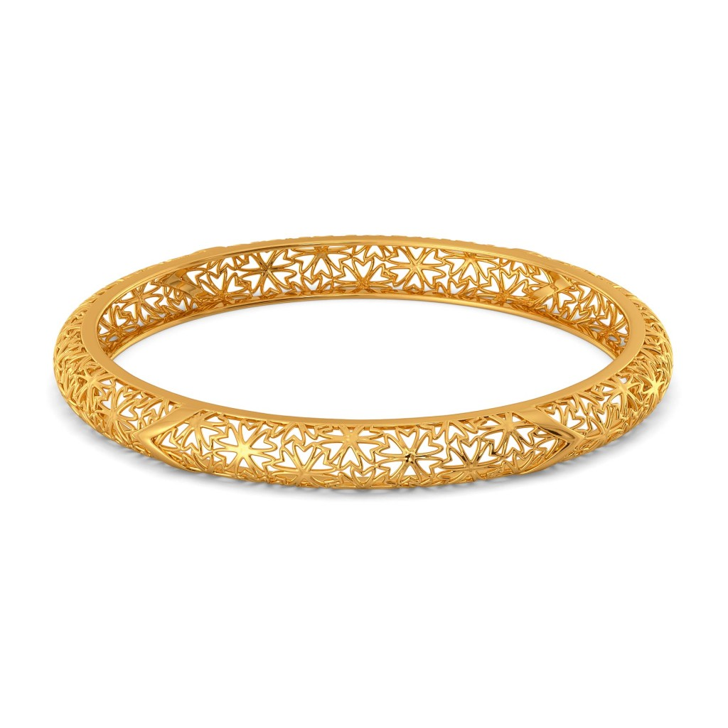 Bend A Lace Gold Bangles