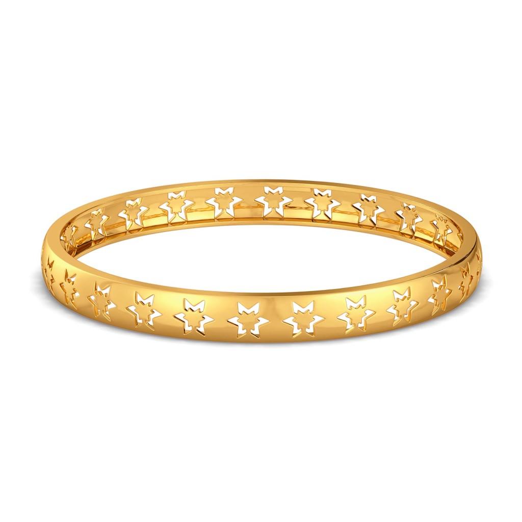 Like A Logo Gold Bangles