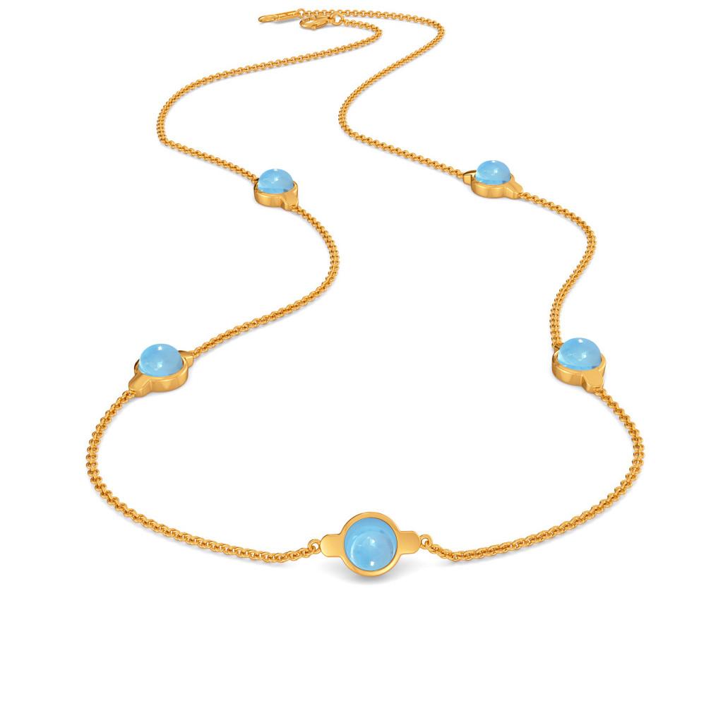 Alice Blue   Gemstone Necklaces