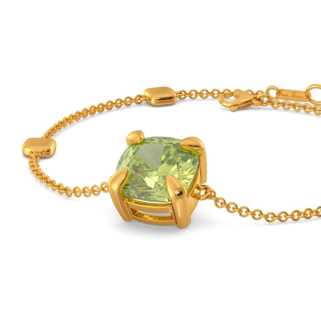 Honeydew Green Gemstone Bracelets