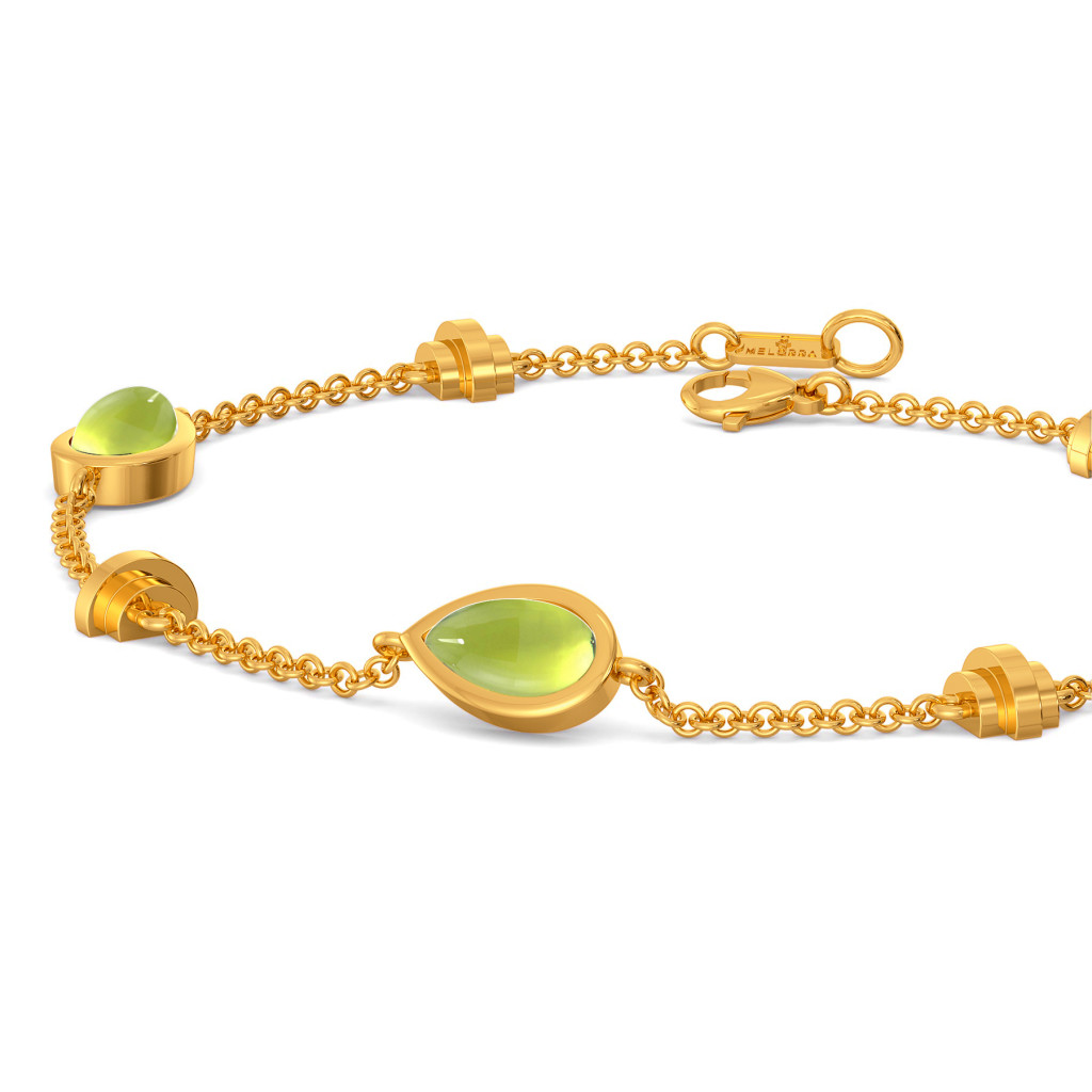 Green Is In Gemstone Bracelets