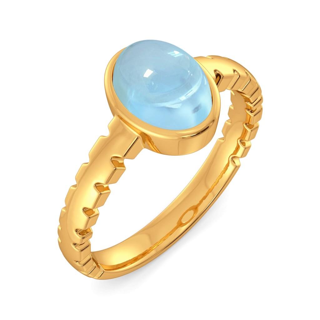Brewed in Blue Gemstone Rings
