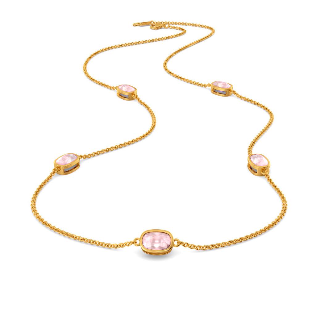 Pink Periwinkle Gemstone Necklaces