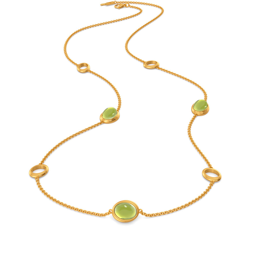Green Groove Gemstone Necklaces