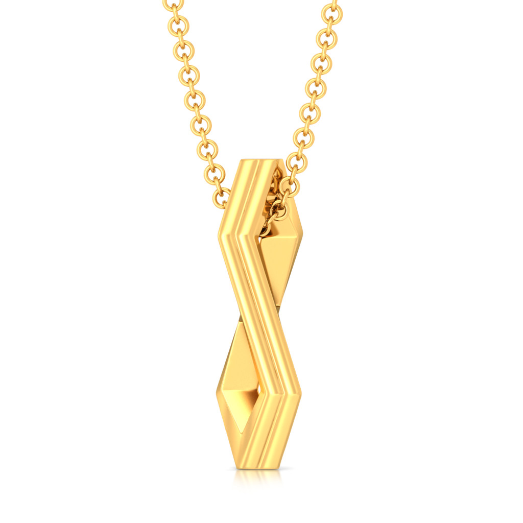 Simplistic Grace Gold Pendants